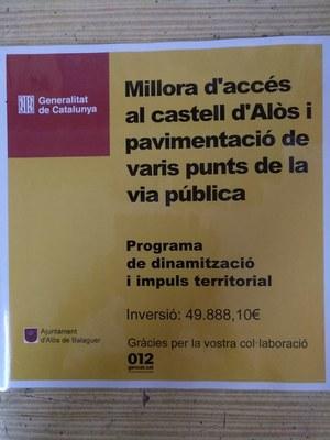 Millora d'accés al Castell i pavimentació de varis punts de la via pública