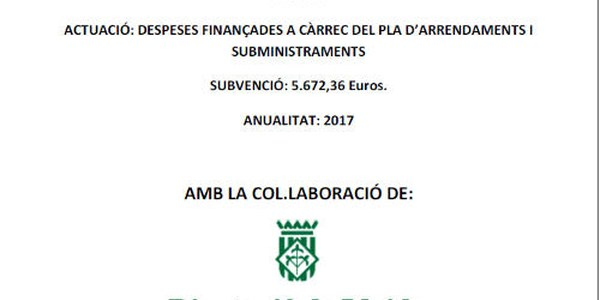 Pla arrendaments i subministraments