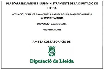Pla d'arrendaments i subministraments de la Diputació de Lleida