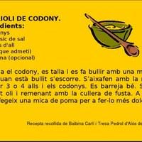 Allioli de codony